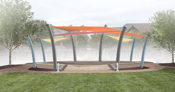 11x17 eagleview stage area shade sail st