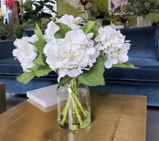 8 Artificial Hydrangea Centerpiece rs