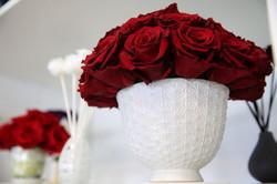 Crimson Preserved Forever Rose Centerpie