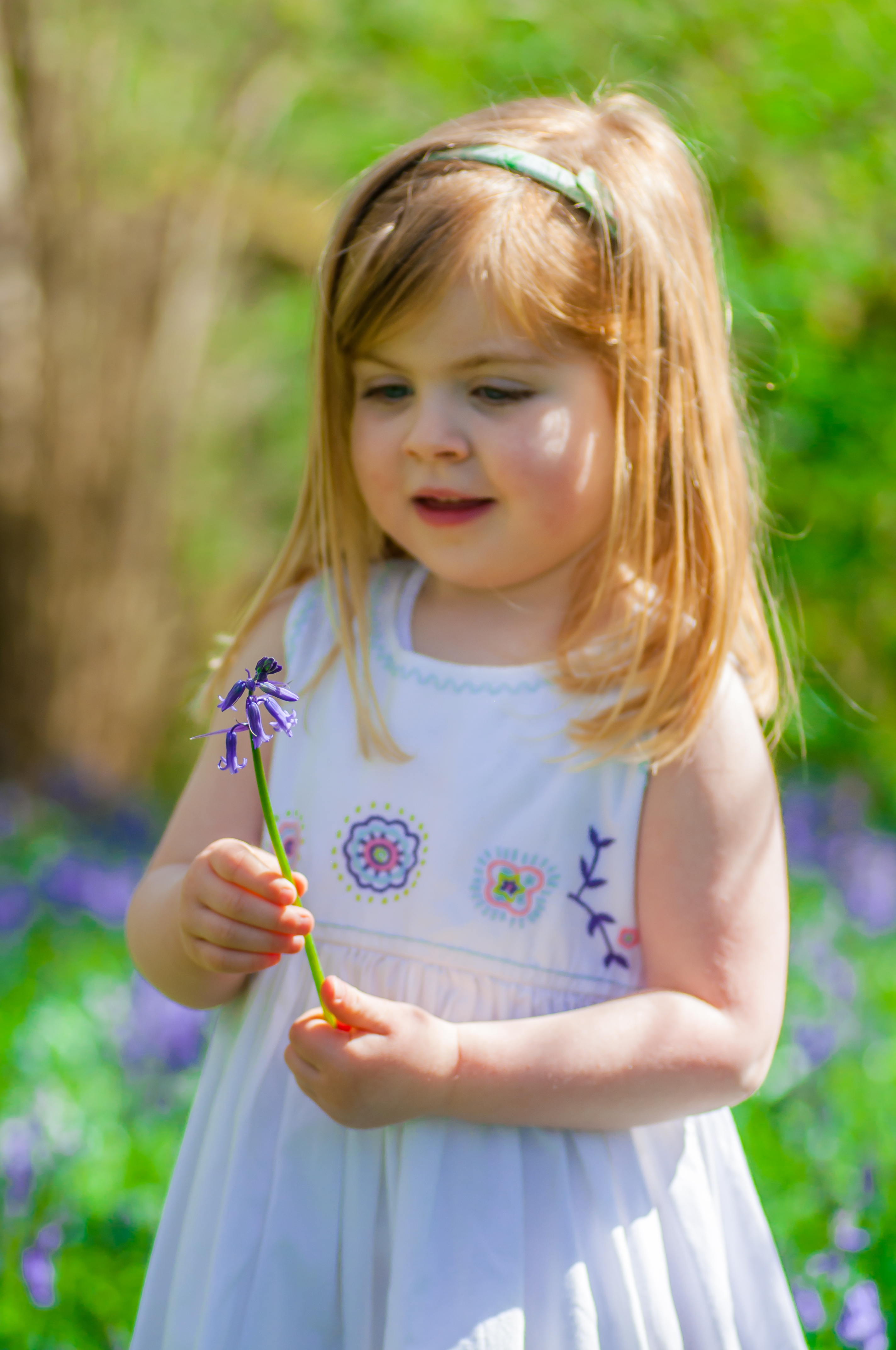 Ruby with her Bluebell
