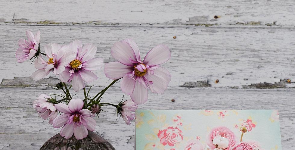 Pink Ranunculus in Faye's Jug