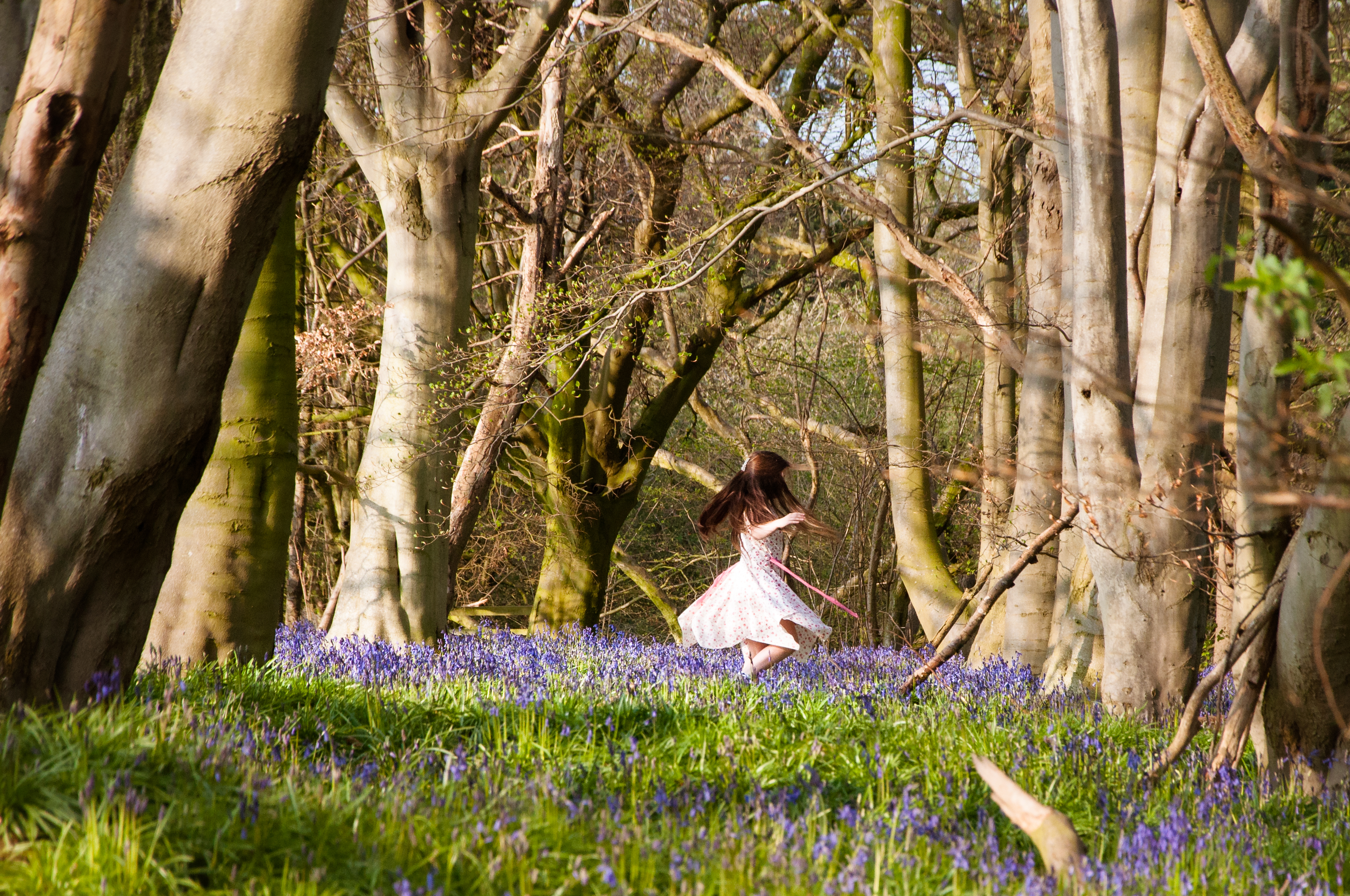 Ellie Dancing in the Bluebells