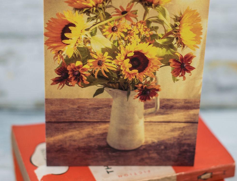 Autumn Sunflowers and Sunlight