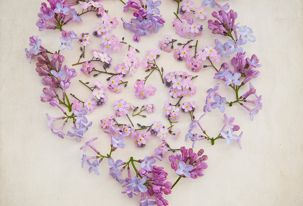 Heart of Lilac and Forget Me Not
