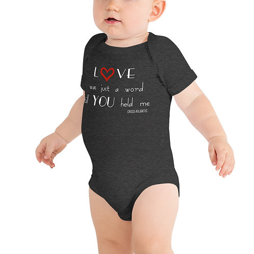 """Just A Word"" Baby Onesie"