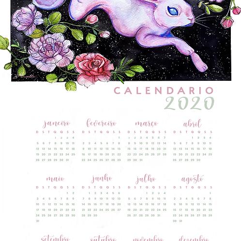 Calendário 2020 - Kote o Coelho