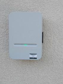 Installation de borne de recharge pour véhiculeélectrique SEBELEC CUSY