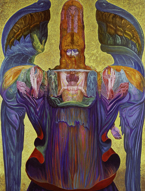 Angel of History by Ernst Fuchs