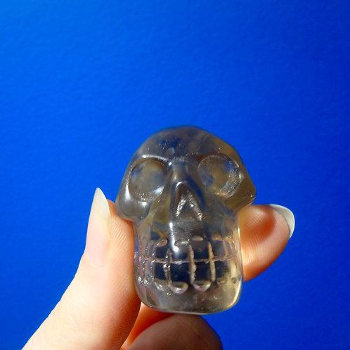 Smokey Quartz Elongated Crystal Skull