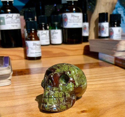 Dragon's Blood Jasper Elongated Crystal Skull