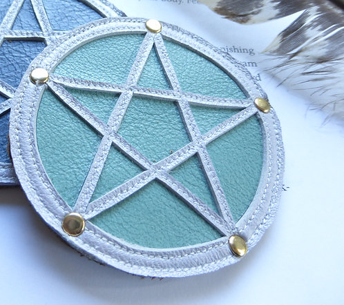Pentagram Patch: Turquoise & Pearl Star