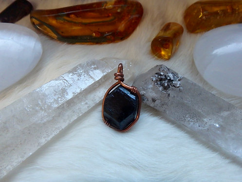 """Black Tourmaline Pendant """"Protection and Sovereignty"""""""