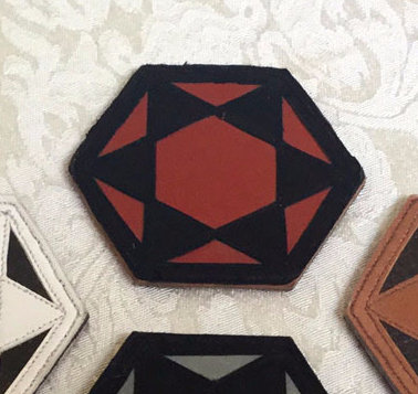 Six-Pointed Star Patch: Rusty Red w/ Black Star