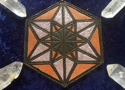 Six-Pointed Star Patch: Shiny Violet /Brown /Black