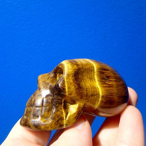 Tiger Eye Elongated Crystal Skull