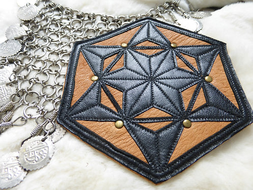 Six-Pointed Star Patch: Black /Tan