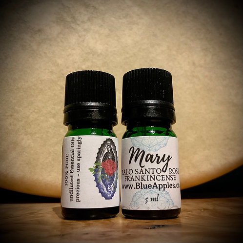 Mary blend PURE UNDILUTED 5ml -Palo Santo Rose Frankincense roll-on