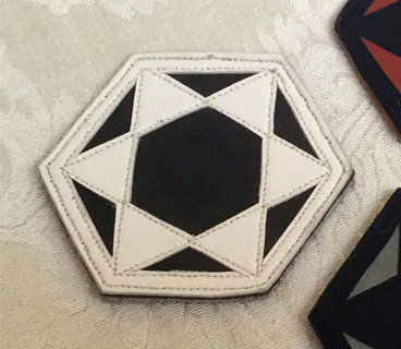 Six-Pointed Star Patch: Black w/ White Star