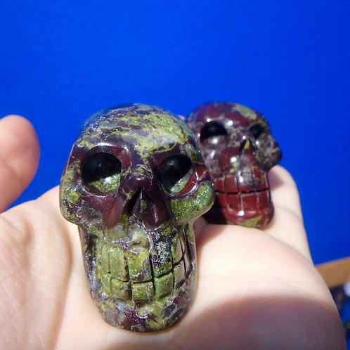 Dragon's Blood Jasper Elongated Crystal Skull