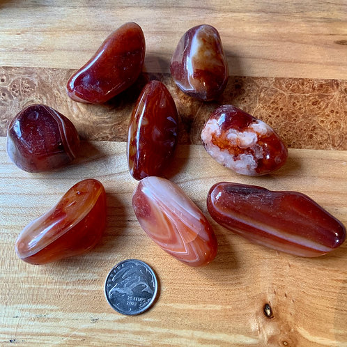 Carnelian tumbled 2 pieces