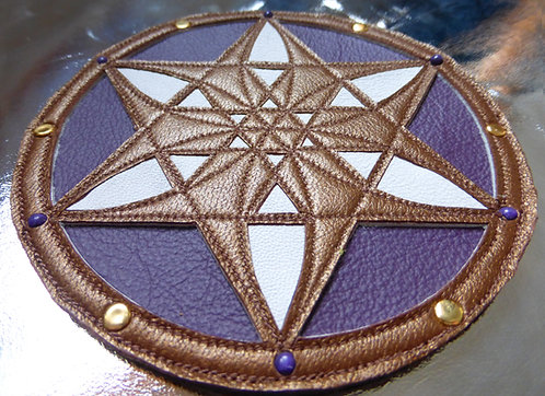 Round 6-Pointed Star Patch: Bronze /Purple /White