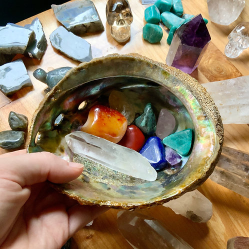 Chakra/Rainbow collection in Abalone