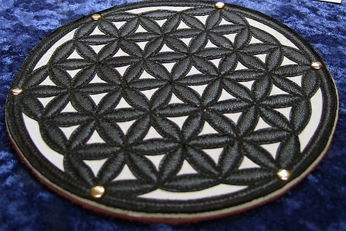 Flower of Life Patch: Black and Cream
