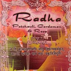 "PATCHOULI CARDAMOM ROSE ""Radha"" incense FREE SHIPPING"