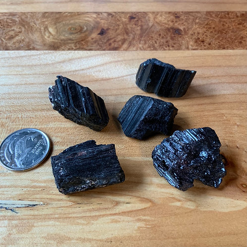 Black Tourmaline 2 pieces raw