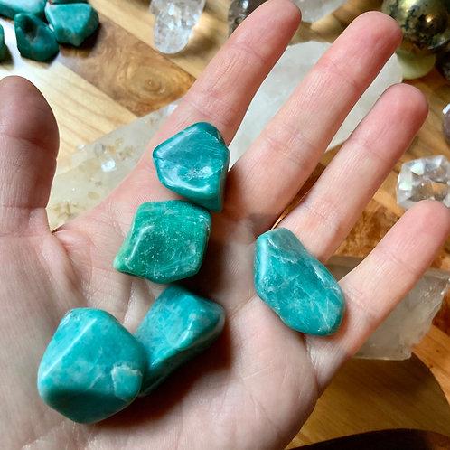 Amazonite tumbled 5 pieces