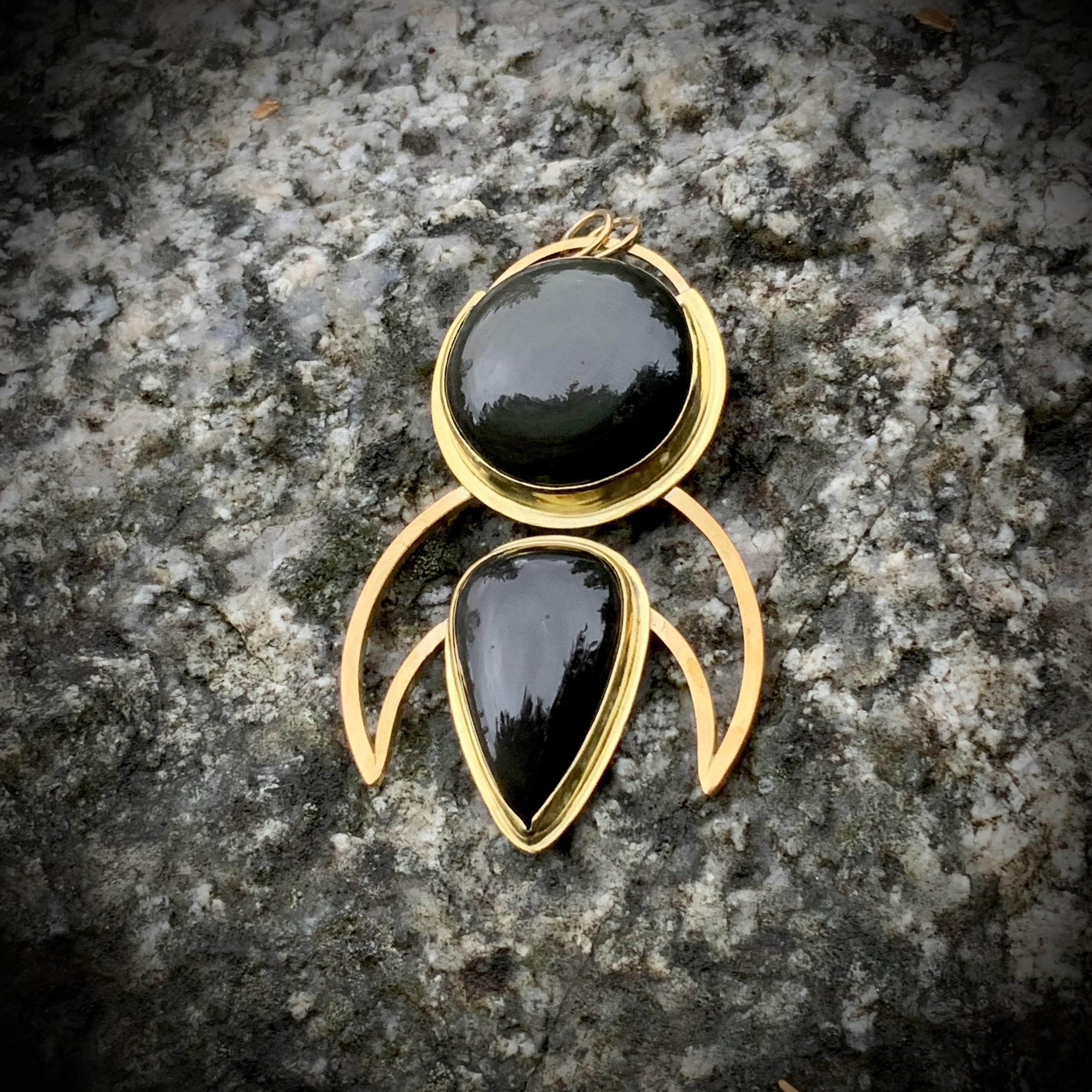 Rainbow Obsidian RUNESEED pendant