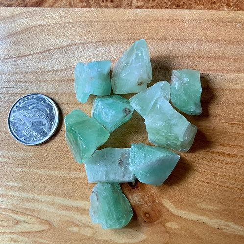 Green Calcite small 10 pieces