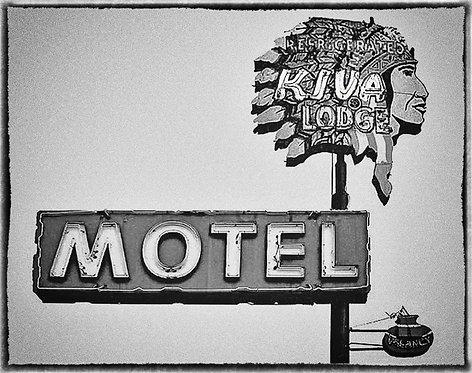 """Kiva Lodge Motel"" Main Street, Mesa, AZ - 1984"