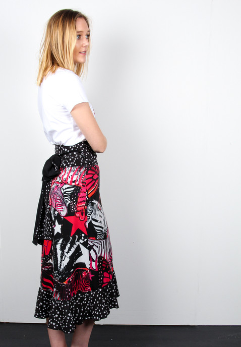 Find-your-zebra-printed-Wrap-Ruffle-Skir