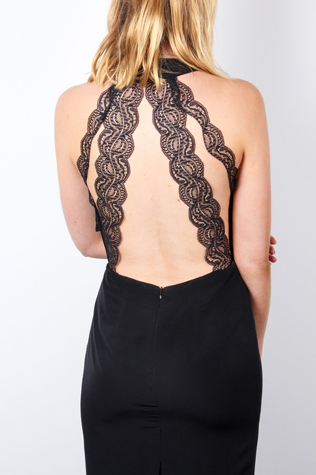 Black-lace-strappy-back-midi-dress-for-w