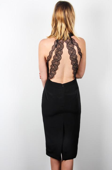 Black-lace-strappy-back-midi-dress-Atali