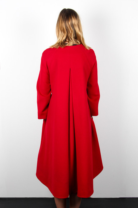 Red-Cashmere-Swing-Coat-with-sash-Atalie