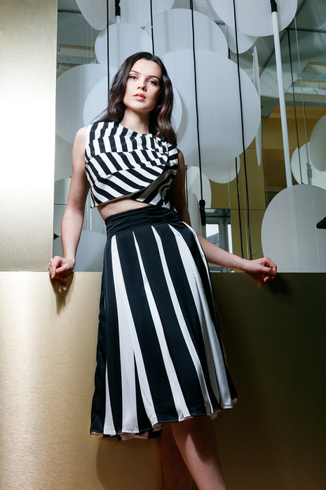 Atalier-Black-and-White-Silky-Skirt-and-