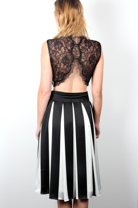Silky-Striped-Skirt-and-Stripe-Pleat-top