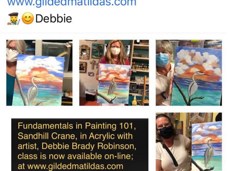 No Masks, Paint at Home in your Jammies!