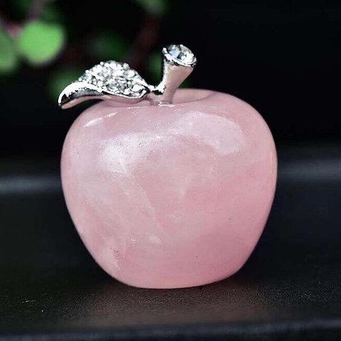 Rose Quartz Apple Gemstone