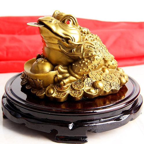 Feng Shui Money Frog /Money Toad Statue Attract Wealth