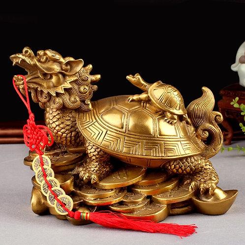 Feng Shui Turtles on Top of a Dragon / Feng Shui Dragon Turtle