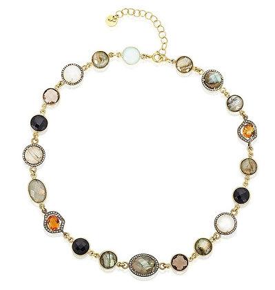 Warm Tones in Gemstones Necklace