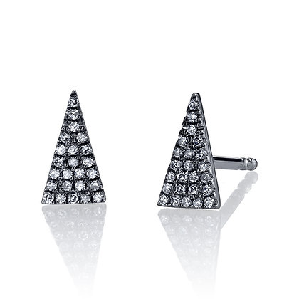 Black is Always Sharp Diamond Earrings