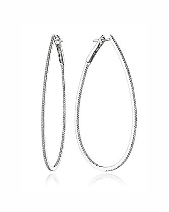 Teardrop In/Out Diamond Hoops