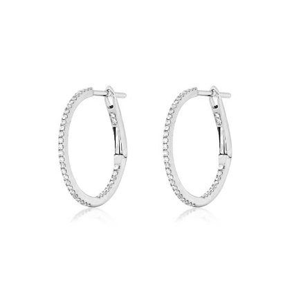 .20ctw In/Out Diamond Hoops