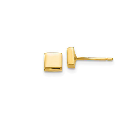 Geometric 14kt Yellow Gold Studs