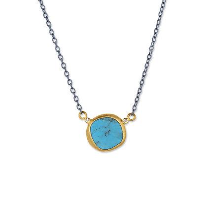 Kingman Turquoise & Diamond Necklace