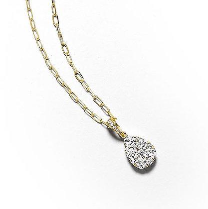 Brilliant Pear Sharp Diamond Pendant